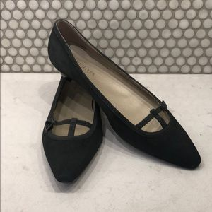 Talbots Gray Suede Flats